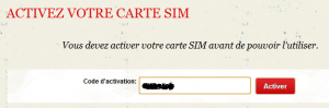 Activation SIM 2
